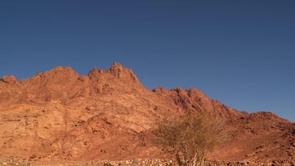 die Spitze des Berges auf der Sinai-Halbinsel