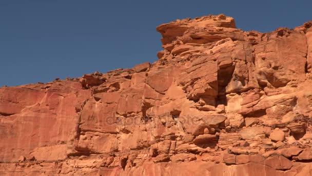 fragment barevná pouštní ledvinových kamenů v kaňonu