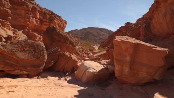 Krásný pohled na kaňon. Egypt