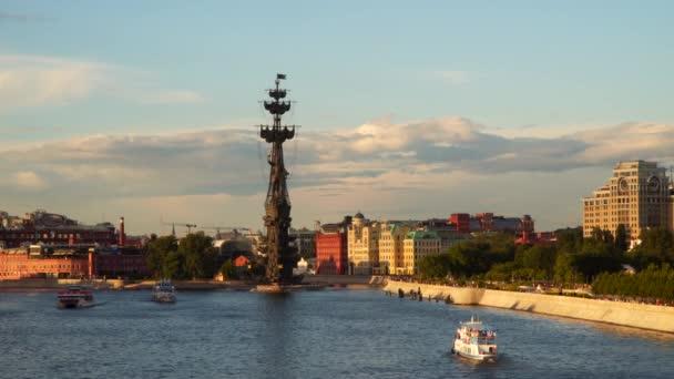 Řeka Moskva při západu slunce