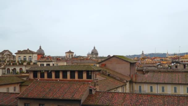 Cherenpichnye střechy v Římě. Pohled shora