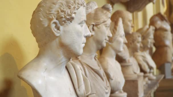 Busts in the Vatican Museums.
