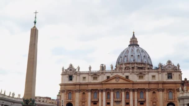 St. Peters Basilica in the Vatican City and ancient Egyptian obelisk on the St. Peters Square