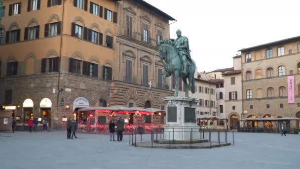 Firenze, Italia - 22 marzo 2018: Piazza della Signoria