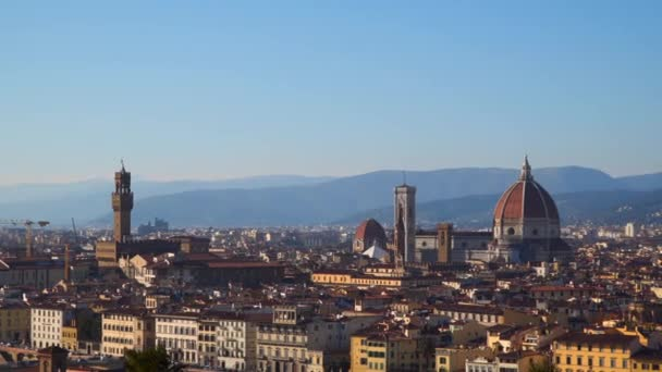 Florencie od Piazzale Michelangelo. Itálie