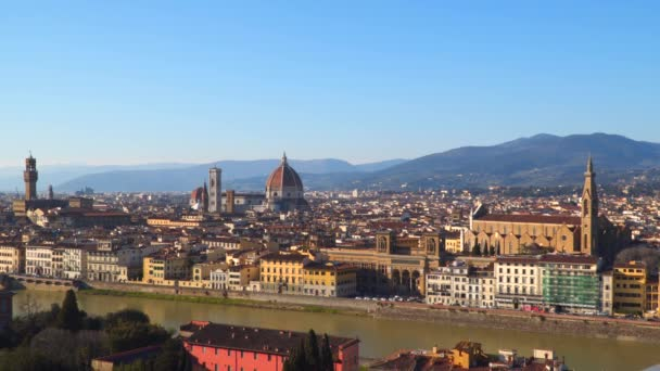 View of Florence from Piazzale Michelangelo. Florence at sunset.