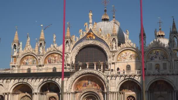 Venice, Italy - March 23, 2018: Basilica San Marco Facade decoration