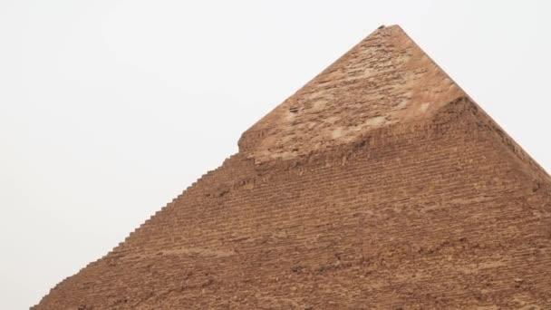 Top of the Chephren Pyramid at Giza Egypt