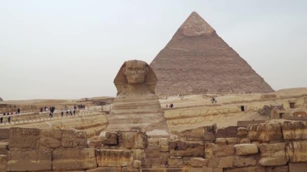 The Sphinx against the Pyramid of Khafre. Egypt