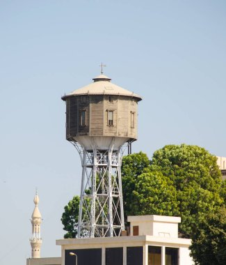 Water tower on the banks of the Nile River in Egypt