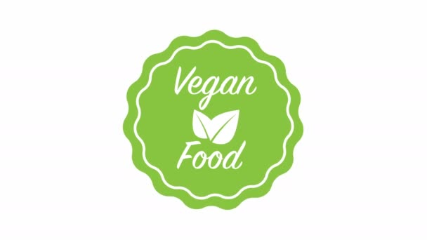 Vegan food tree leaves animation. Life style, ecology, bio, natural food, vegetarian and healthy diet 3D rendered concept.