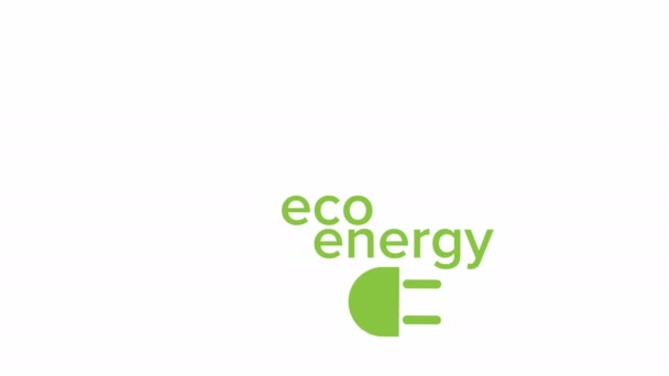 Green Eco Energy Concept Video Animation Eco Power Alternative Energy, Ways of Clean Power Generation - Concept Animation.
