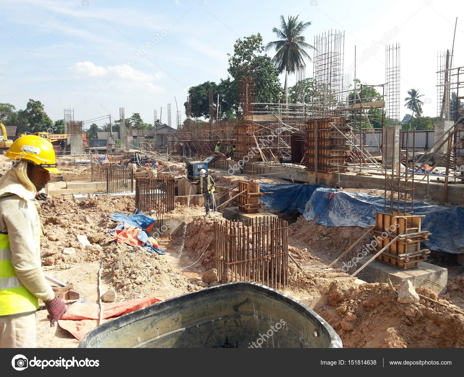 Construction Workers Spraying The Anti Termite Chemical Treatment Stock Editorial Photo C Aisyaqilumar 151814638