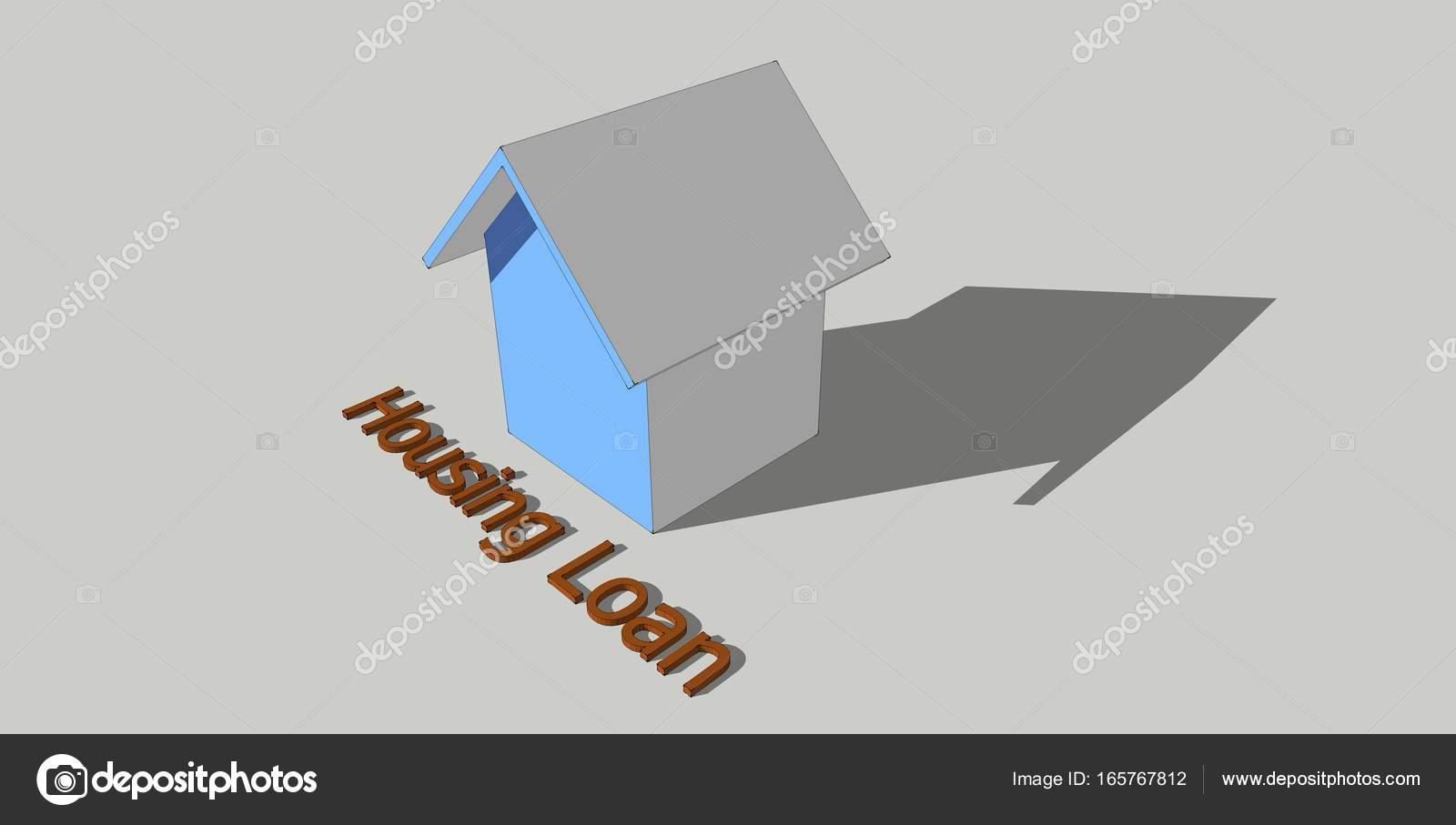 Lovely Gehäuse Konzeptionelle Lehnwörter Mit 3d Hausmodell Auf Weißem Hintergrund  U2014 Foto Von Aisyaqilumar
