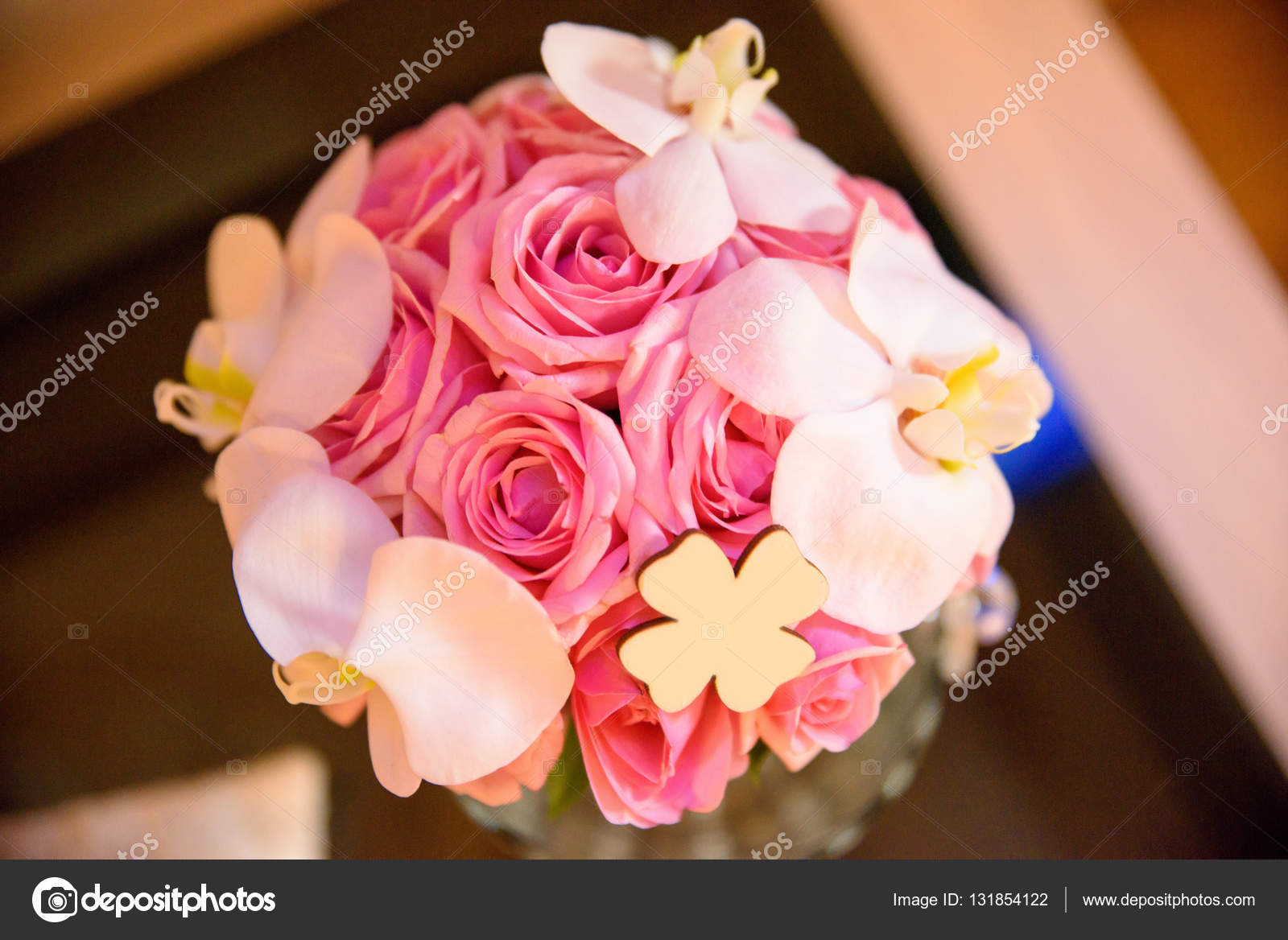 wedding bouquet, flowers, roses, beautiful in home — Stock Photo ...
