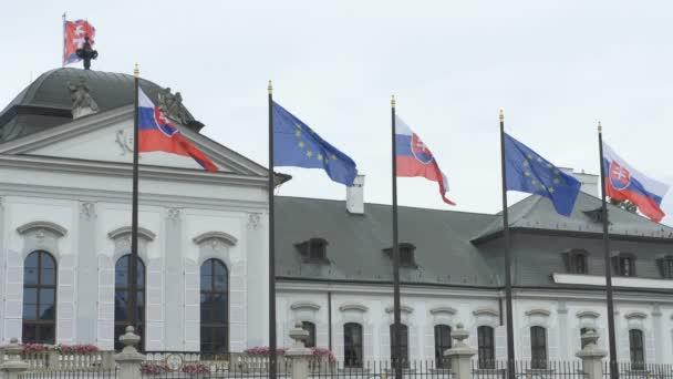 Slovenské a Evropské vlajky