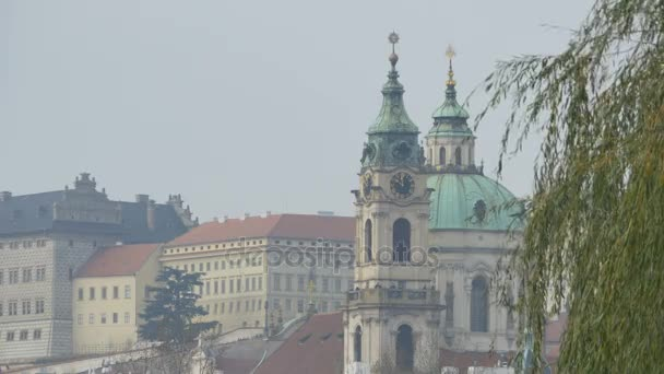 View of a baroque church on old town Prague.