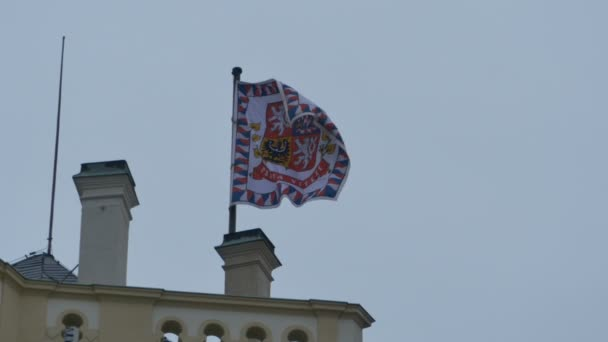 Flag of the Presidency Palace in Prague City, the capital of Czech Republic.