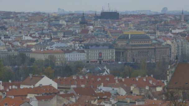 Pohled shora města Praha, v hlavním městě České republiky