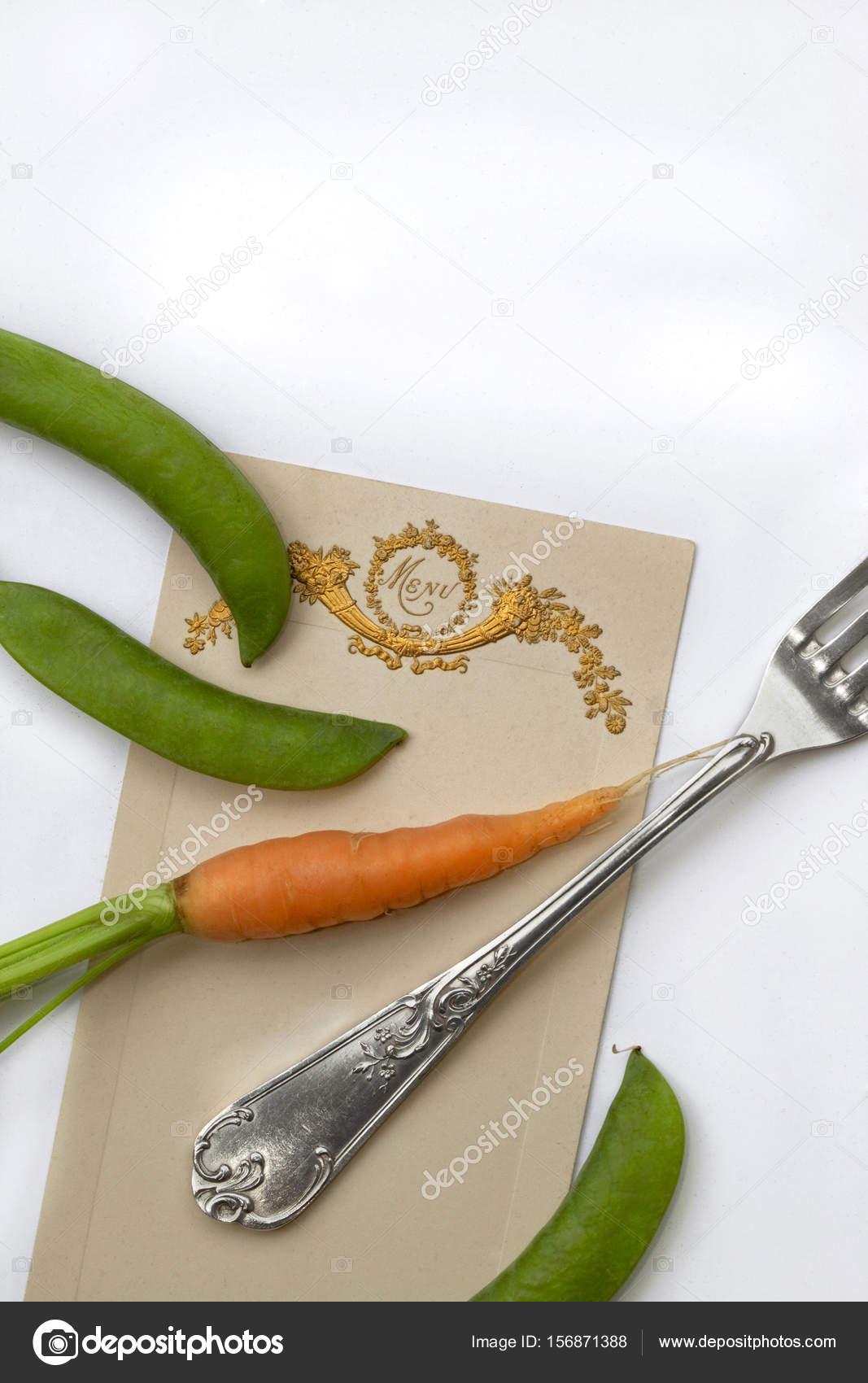 Vegetarisches Menü Französisch — Stockfoto © jacquespalut #156871388