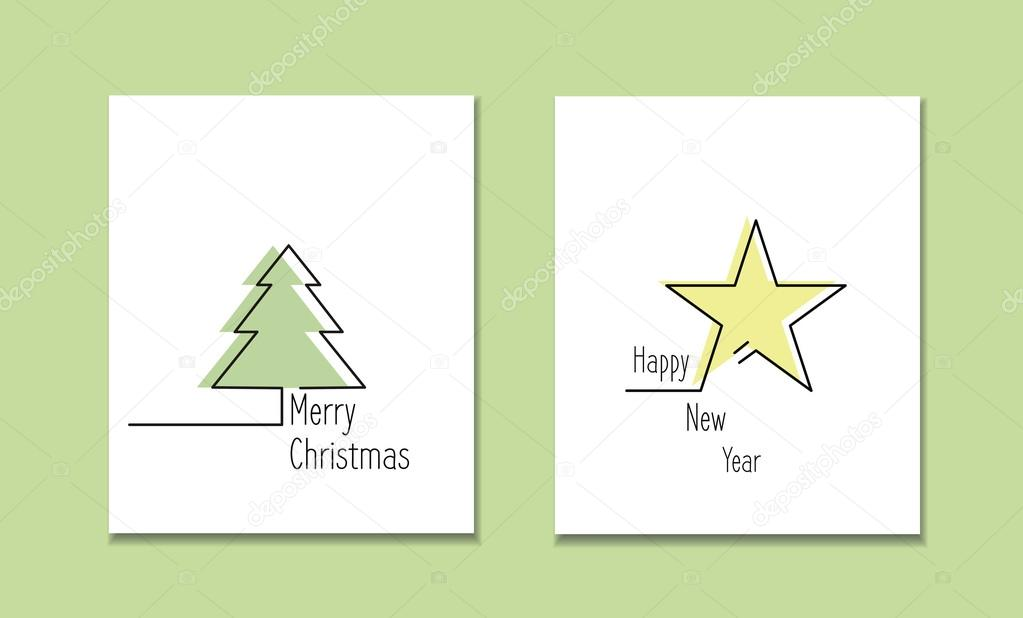 Line Style Logotype Template With Christmas Tree And Star Perfect Logo For Your Business Or Invitation Card Vector Illustration By Ln A
