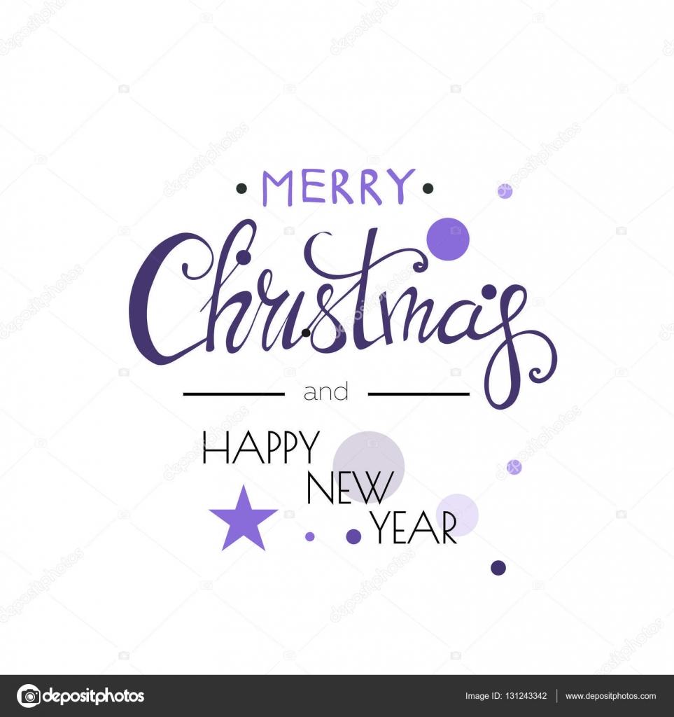Frohe Weihnachten Design Schriftzug. Frohes neues Jahr. Farben ...