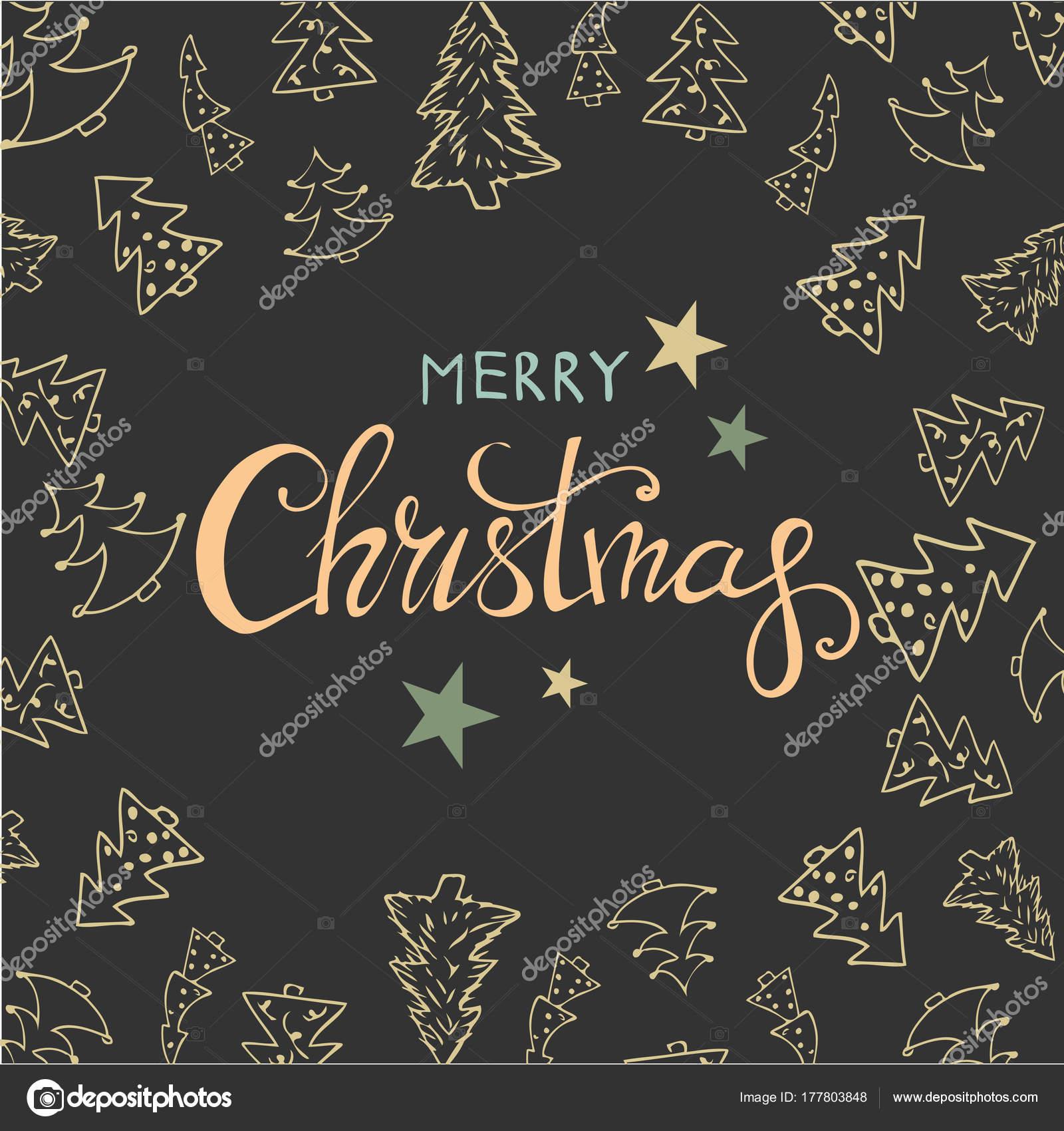 Frohe Weihnachten Design Schriftzug. Frohes neues Jahr. Helle Farben ...