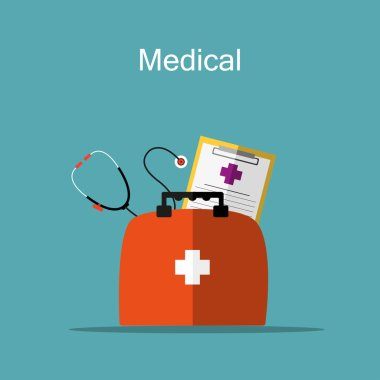 First aid kit,  vector illustration stock vector