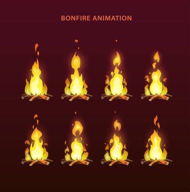 Bonfire animation sprites