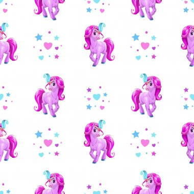 Seamless pattern for girls
