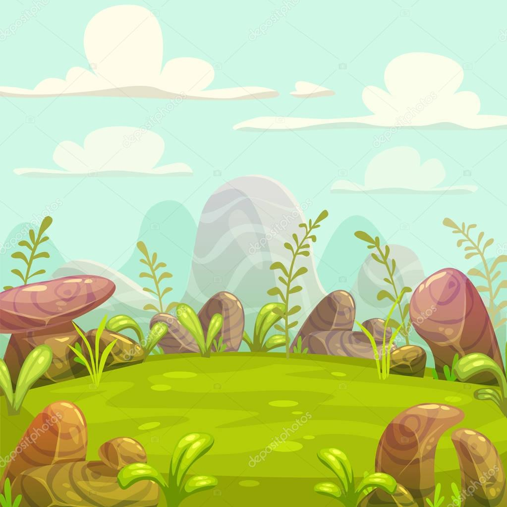 Cartoon nature landscape.