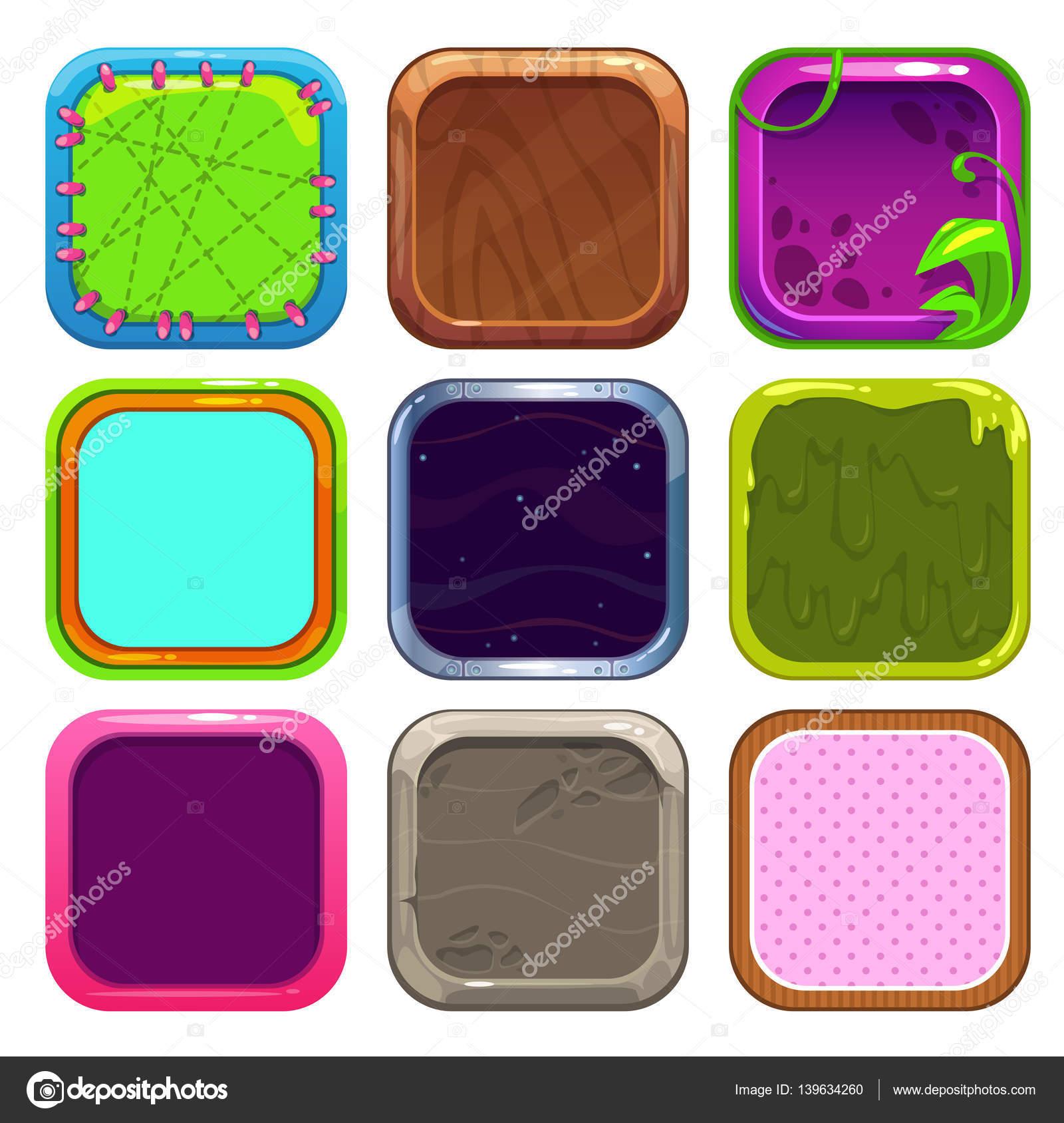 Marcos cuadrados divertidos dibujos animados para el diseño de los ...