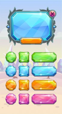 Crystal game user interface assets