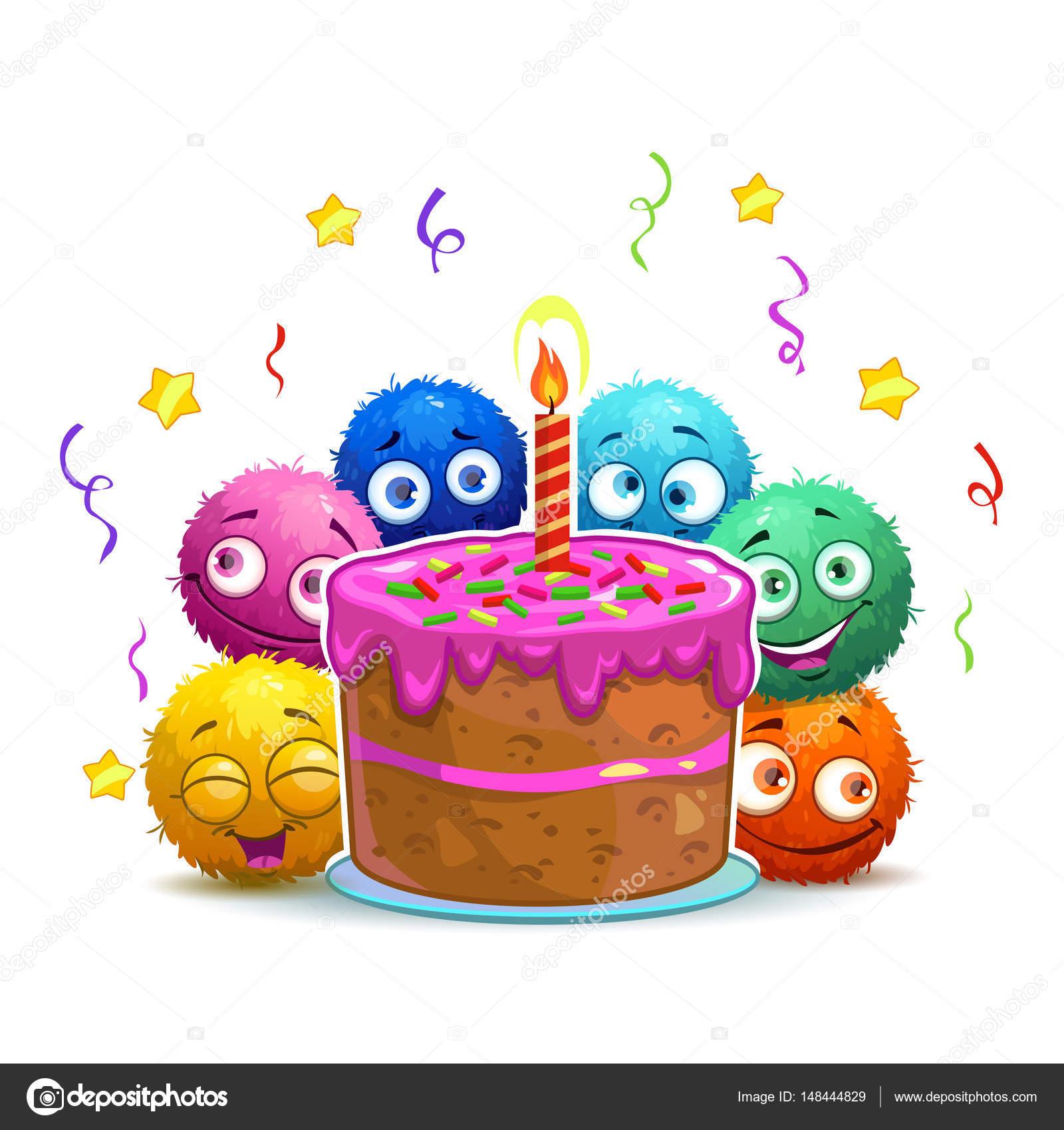 Cartão De Aniversário Engraçado Dos Desenhos Animados