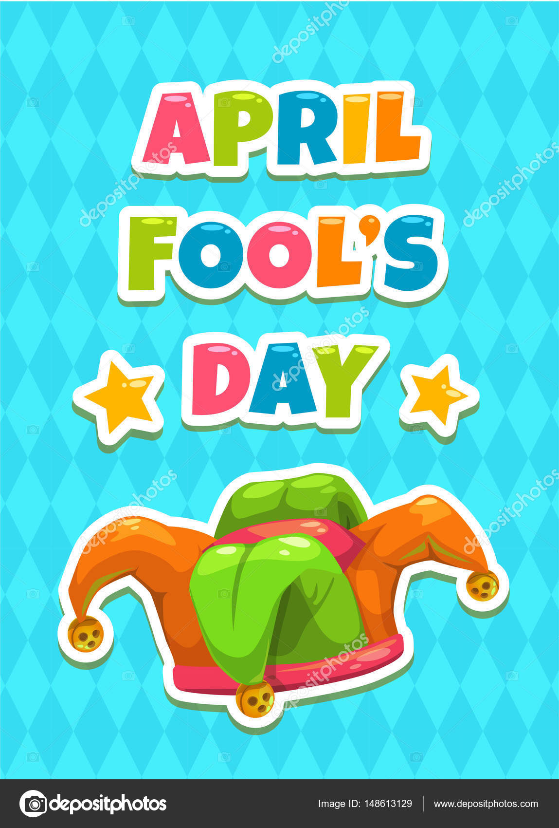 April Fools Day Greeting Card Template Stock Vector Lilu330