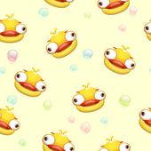 Fotografie Lustige Musterdesign mit verrückten gelbe Ente
