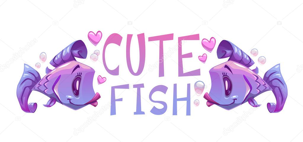 Cute fishes illustration