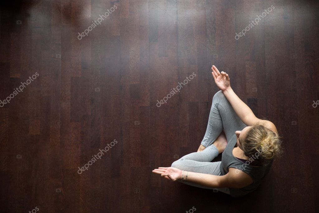 Yoga At Home Meditation Idea Stock Photo C Fizkes 125626490