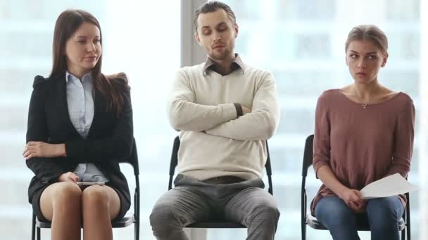 Rivals waiting for job interview