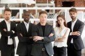 Álló csapat, a magabiztos üzletemberek csoportja állandó látszó
