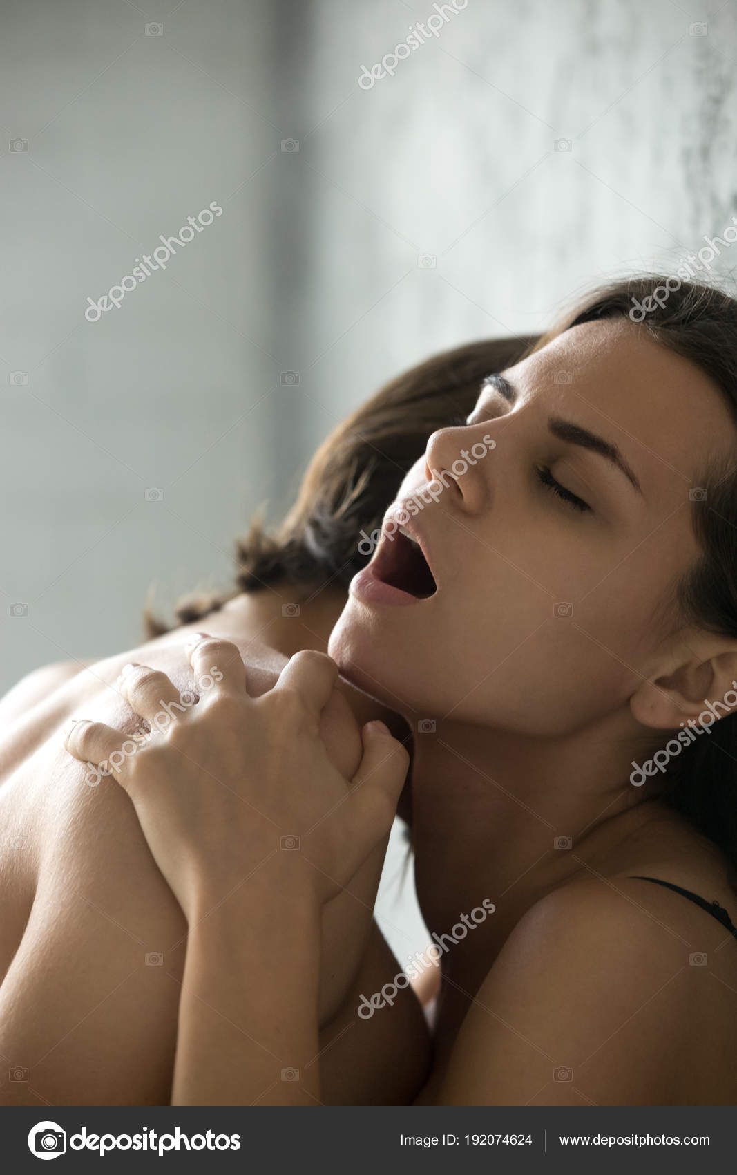Passionate Sensual Woman Moaning Feeling Pleasure Having Sex Ve Stock Photo