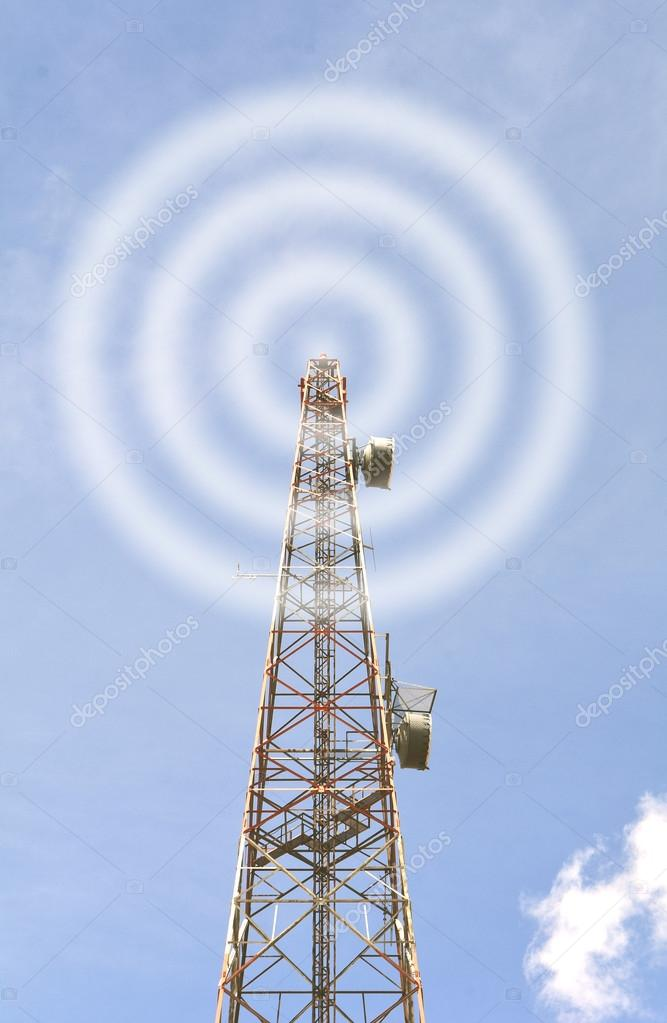 Communication antenna tower — Stock Photo © goldenshrimp #127577930