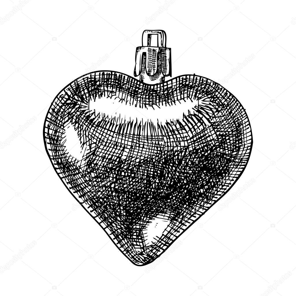 Christmas ball sketch — Stock Vector © goldenshrimp #127604258