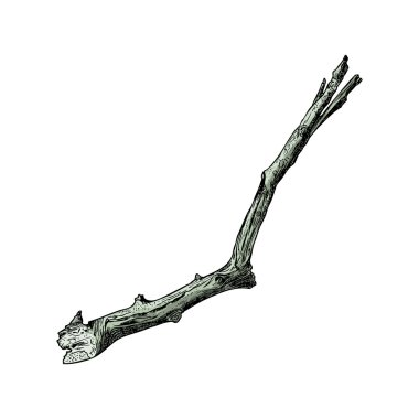Hand painted wood twig