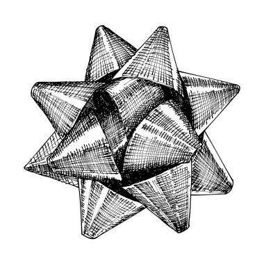 Christmas bow sketch