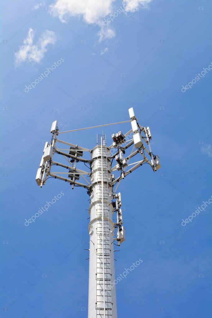 Telecommunication mast television antenna