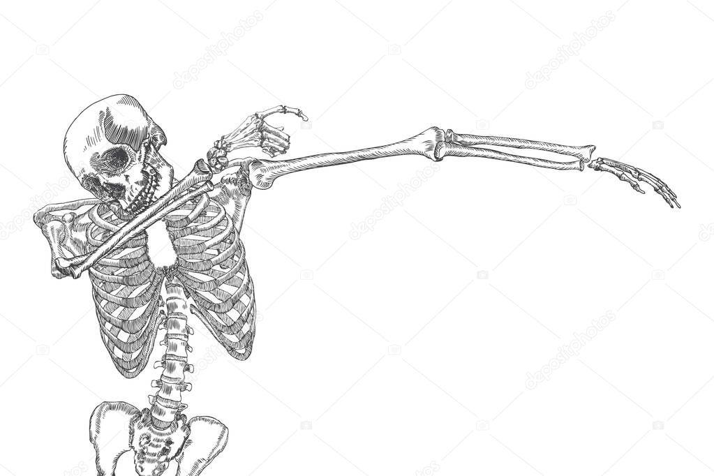 Human skeleton dancing