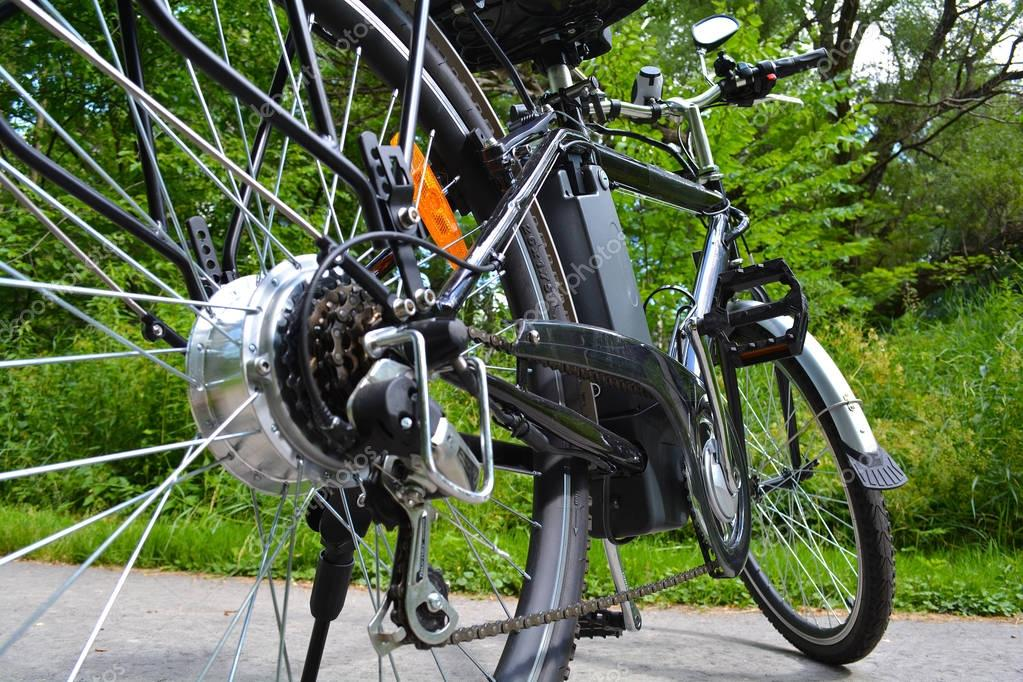 Electric bicycle in the park