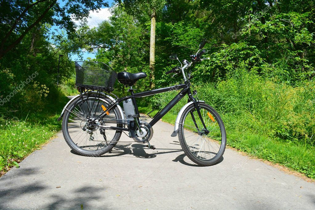 Electric bicycle in Canadian park