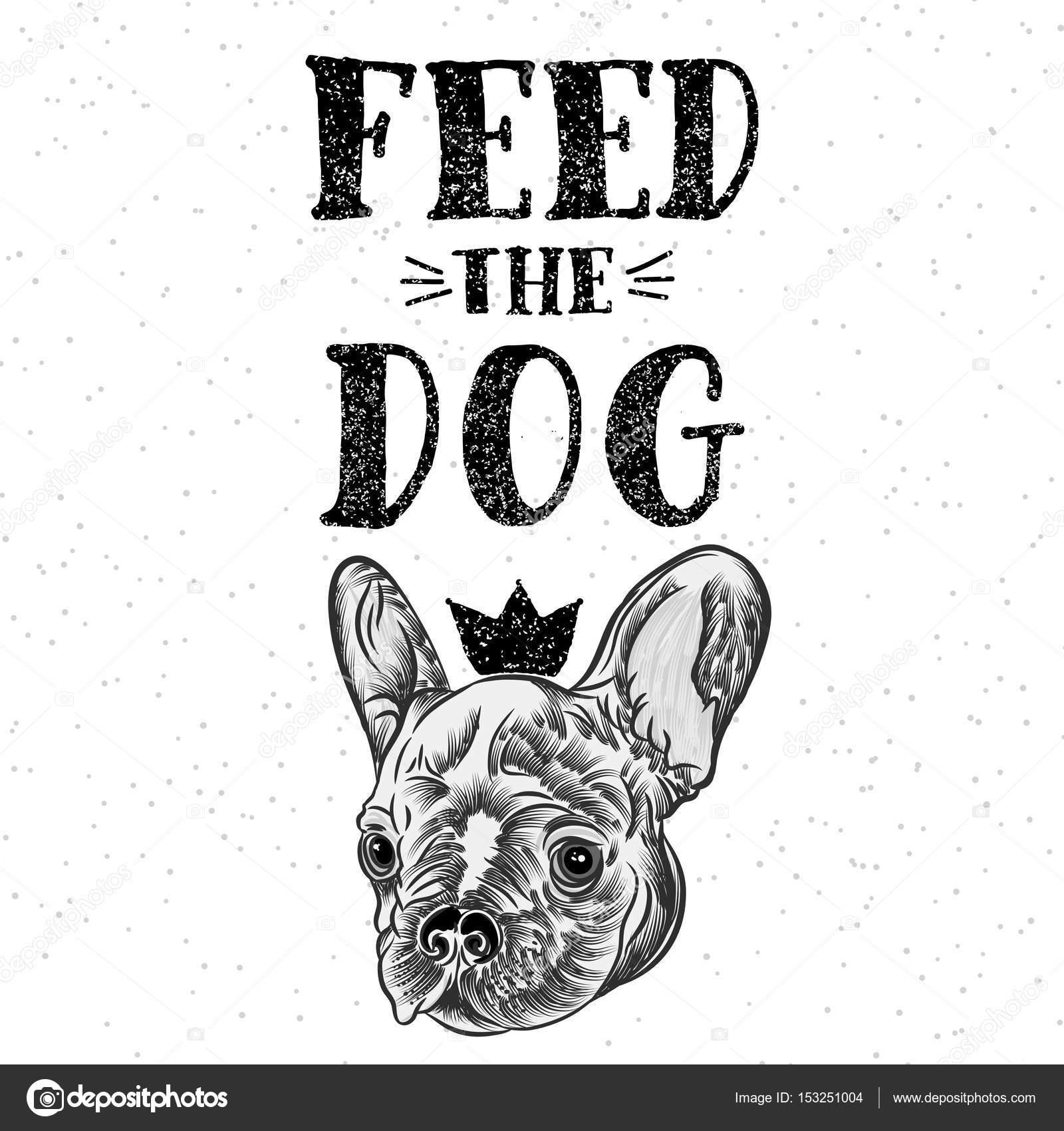 Süße Heimat Französische Bulldogge Zeichnen Stockvektor
